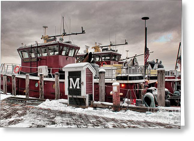 Portsmouth Tugboats Greeting Card
