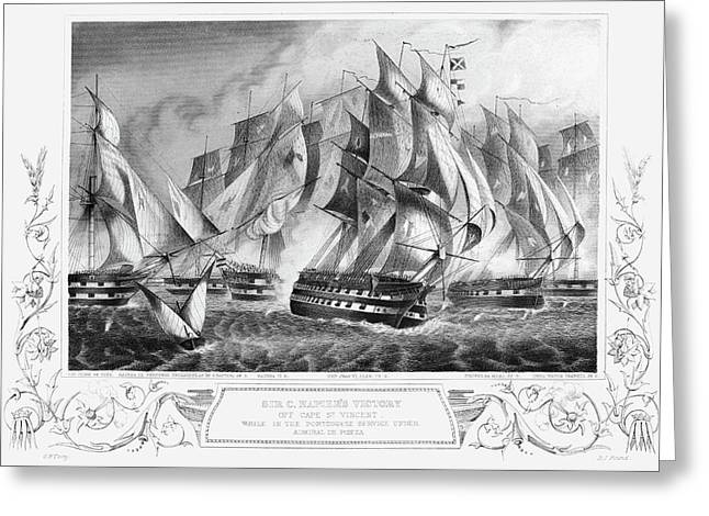 Portugal Battle, 1833 Greeting Card by Granger