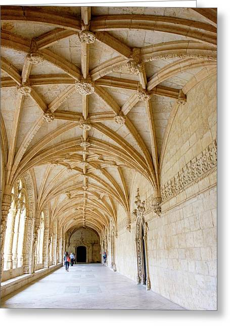 Portugal, Belem Granada Monasterio De Greeting Card by Emily Wilson