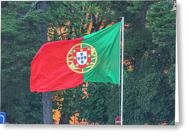 Portugal, Cascais, Portuguese Flag Greeting Card