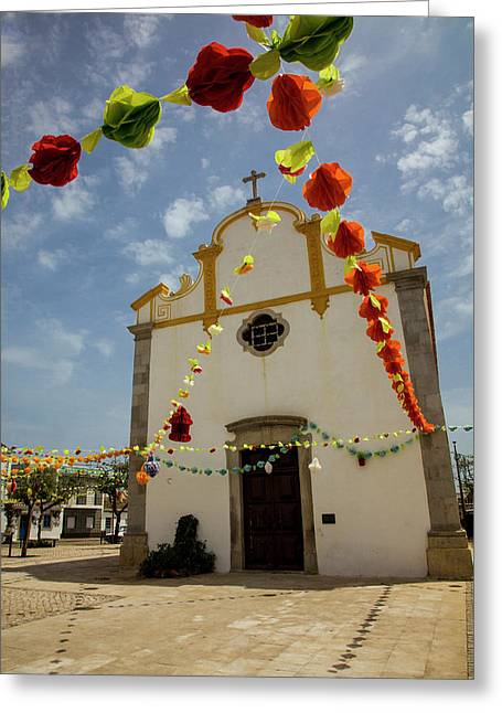 Portugal, Tavira, Chapel Of Sao Greeting Card by Terry Eggers