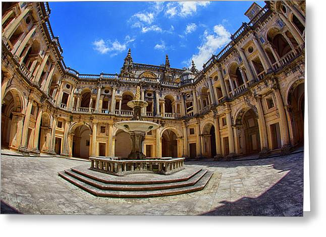 Portugal, Tomar, The Convent Greeting Card by Terry Eggers