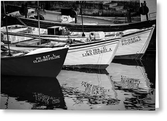 Portuguese Fishing Boats Greeting Card