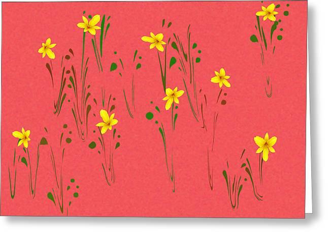 Posies Greeting Card by Larry Bishop