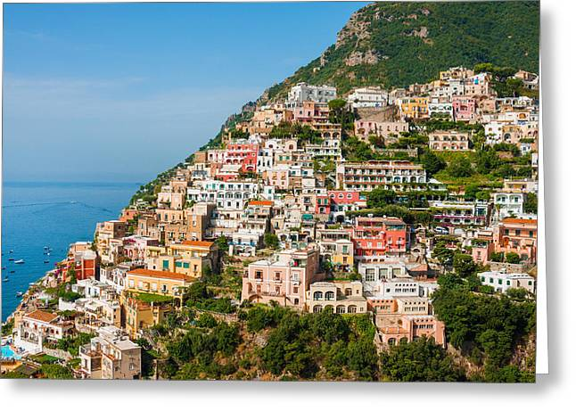 Positano City Greeting Card by Gurgen Bakhshetsyan