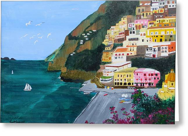 Positano Italy Greeting Card