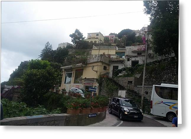 Positano Italy I Greeting Card by Shesh Tantry