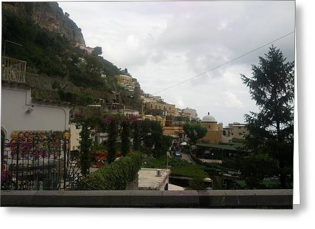 Positano Italy II Greeting Card by Shesh Tantry