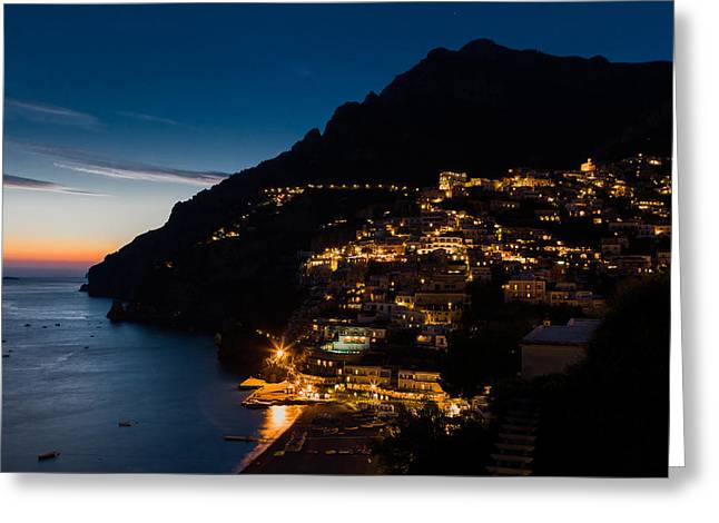 Greeting Card featuring the photograph Positano Sunset by Carl Amoth