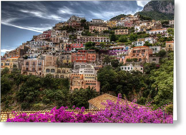 Greeting Card featuring the photograph Positano by Uri Baruch