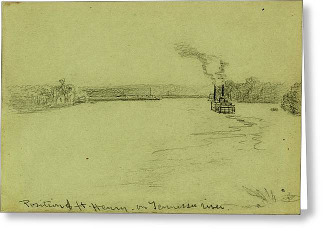 Position Of Ft. Henry On Tennessee River Greeting Card by Quint Lox
