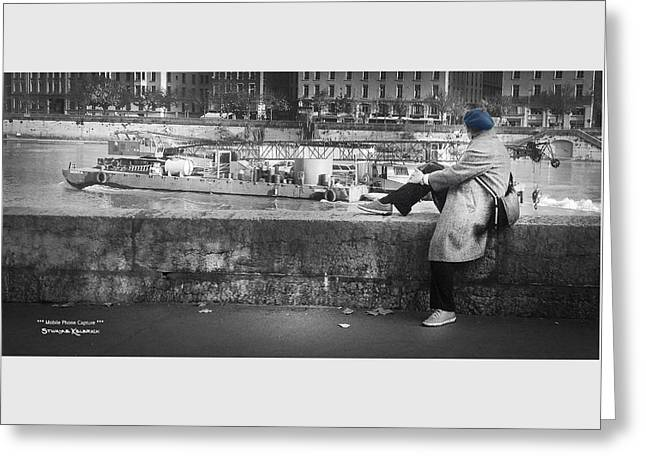 Greeting Card featuring the photograph Positive Meditation On The River by Stwayne Keubrick
