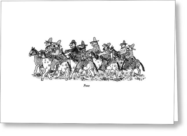 Posse Greeting Card by William Steig