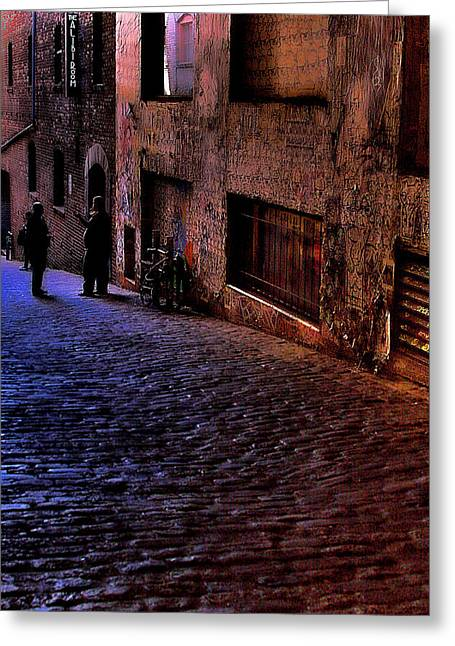 Post Alley - Seattle Greeting Card by David Patterson