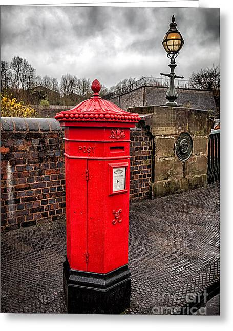 Post Box Greeting Card by Adrian Evans
