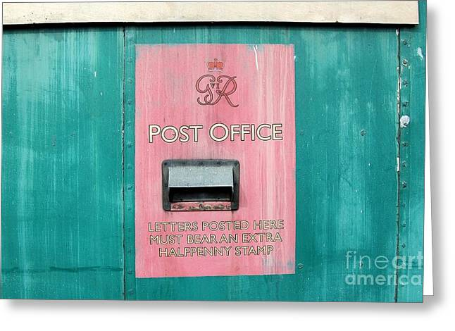 Post Box On Side Of Railway Carriage Greeting Card by Ross Sharp