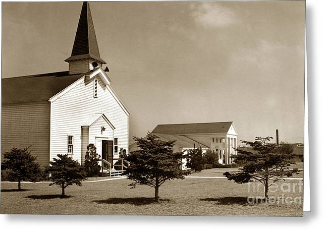 Post Chapel And Red Cross Building Fort Ord Army Base California 1950 Greeting Card
