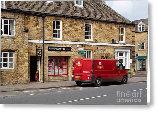 Post Office And Royal Mail Van Greeting Card by Louise Heusinkveld