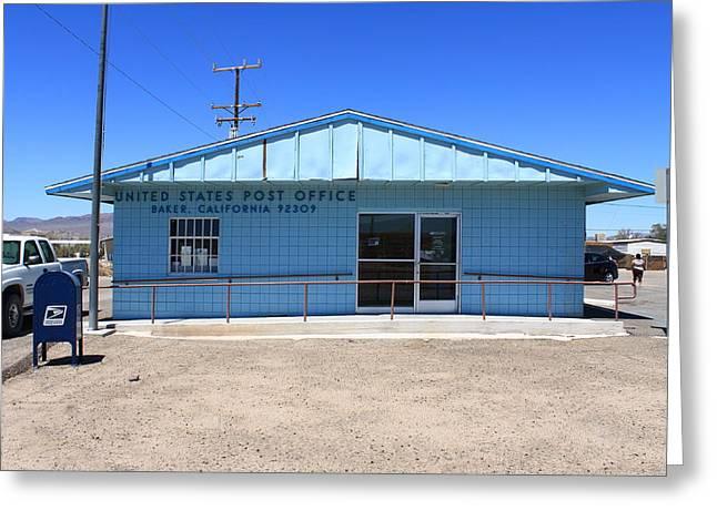 Baker California - Post Office Greeting Card