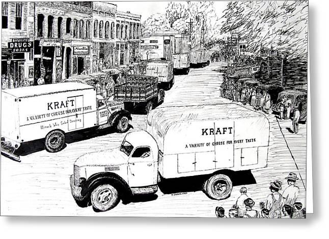 Post War Parade Bentonville Arkansas Greeting Card by Ron Enderland