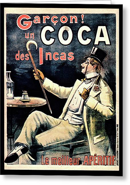 Postcard Advertising Coca Des Incas Greeting Card by National Library Of Medicine