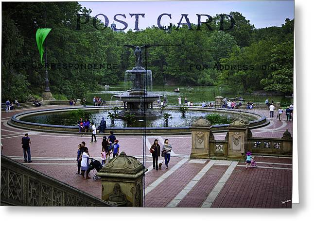 Postcard From Central Park Greeting Card