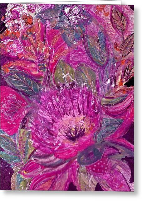 Postcard From Heaven Greeting Card by Anne-Elizabeth Whiteway