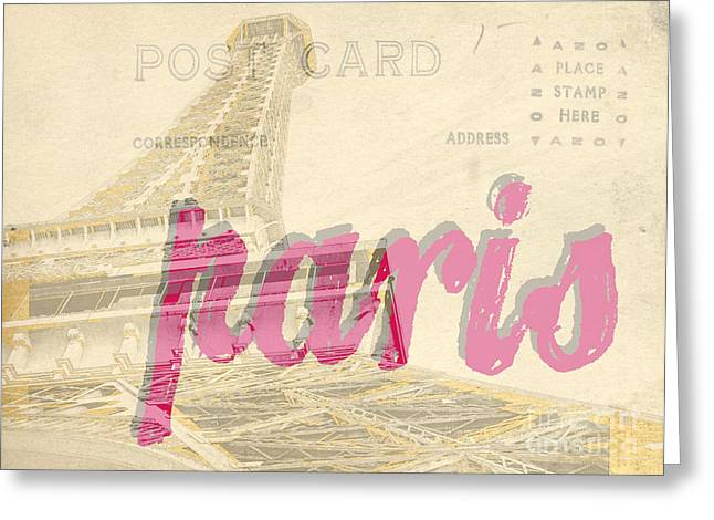 Postcard From Paris Greeting Card by Edward Fielding