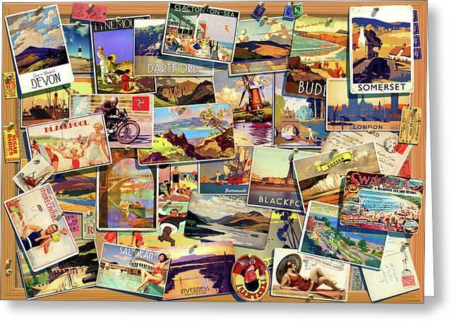 Postcard Uk Greeting Card by Garry Walton
