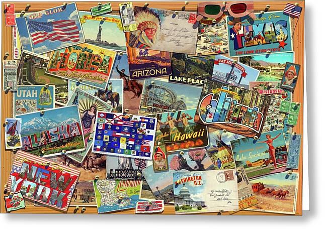 Postcard Usa Greeting Card by Garry Walton