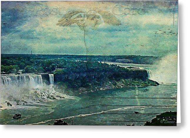Postcard...impressions Of Niagara Greeting Card by Lianne Schneider