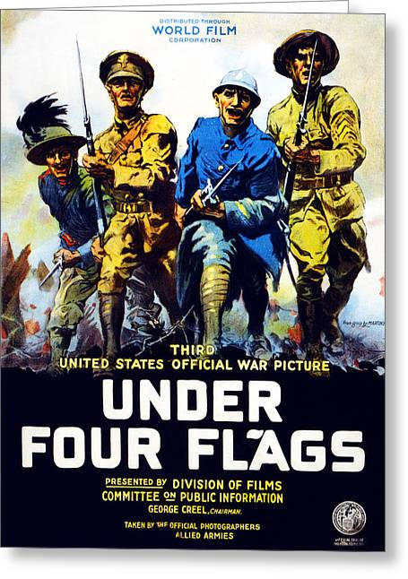 Poster Advertising The Film Under Four Greeting Card by Philip Martiny