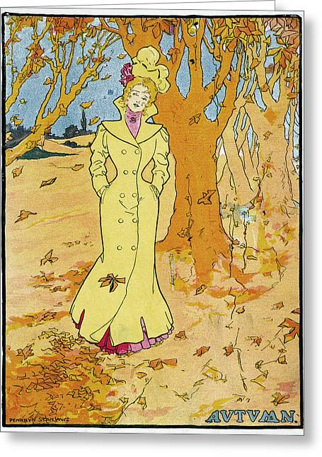 Poster Autumn, 1907 Greeting Card by Granger
