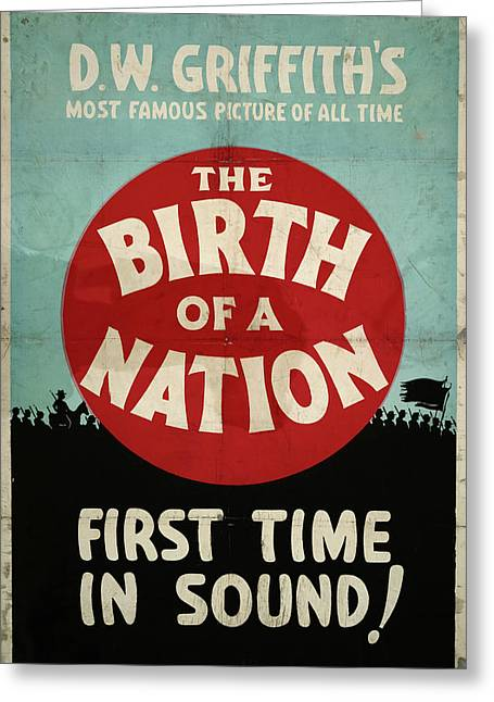 Poster Birth Of A Nation Greeting Card