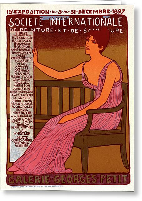 Poster For Galerie Georges Petit Greeting Card