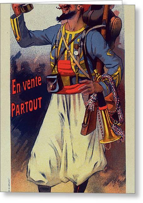 Poster For  L Absinthe Mugnier. Lucien Lefevre 1850 France Greeting Card