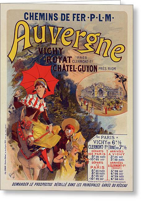 Poster For La Compagnie P.-l.-m. Lauvergne Greeting Card by Liszt Collection