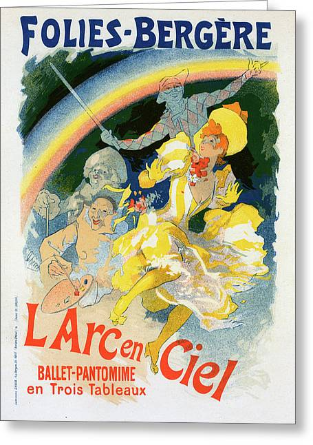 Poster For Larc-en-ciel Greeting Card by Liszt Collection