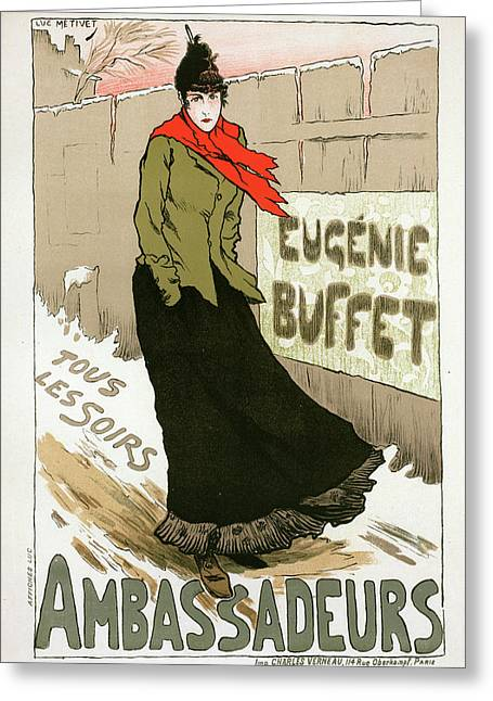 Poster For Le Concert Des Ambassadeurs Greeting Card by Liszt Collection