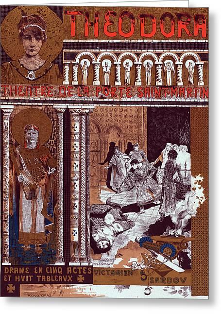 Poster For Le Théâtre De La Porte-saint-martin Greeting Card