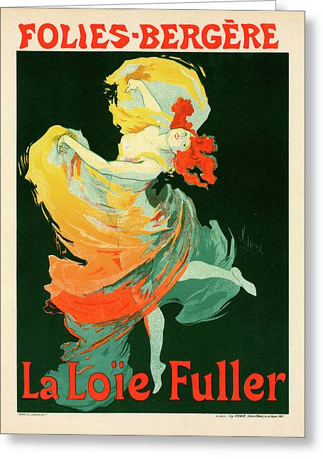 Poster For Les Folies-bergère Greeting Card