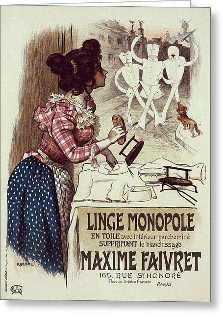 Poster For Linge Monopole Greeting Card by Liszt Collection