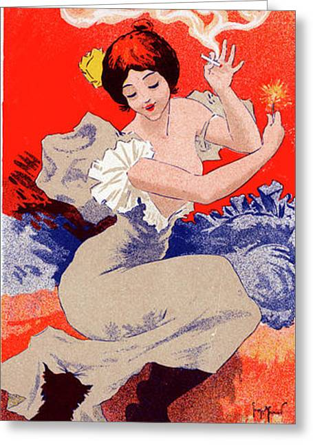 Poster For Papier à Cigarettes Job. Georges Meunier Greeting Card