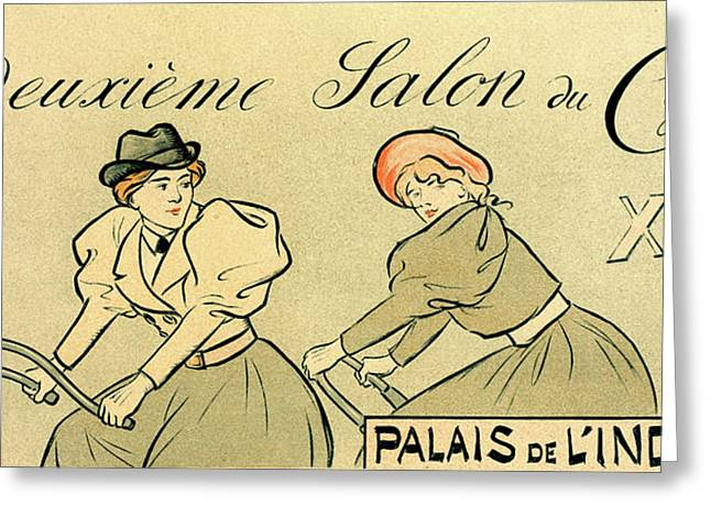 Poster For Salon Du Cycle Greeting Card by Liszt Collection