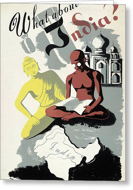 Poster India, C1943 Greeting Card by Granger