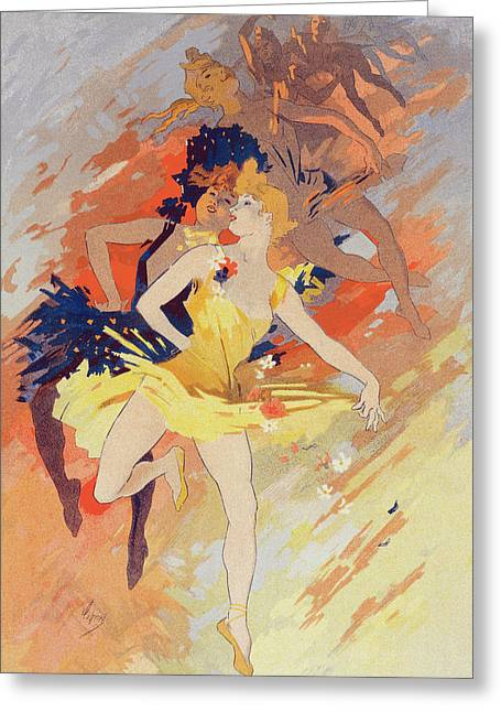 Poster La Danse, The Dance. Chéret, Jules 1836-1932 Greeting Card
