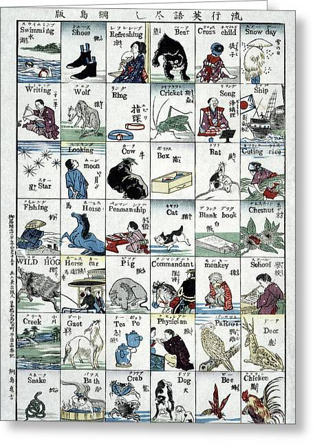Poster Language, 1887 Greeting Card by Granger