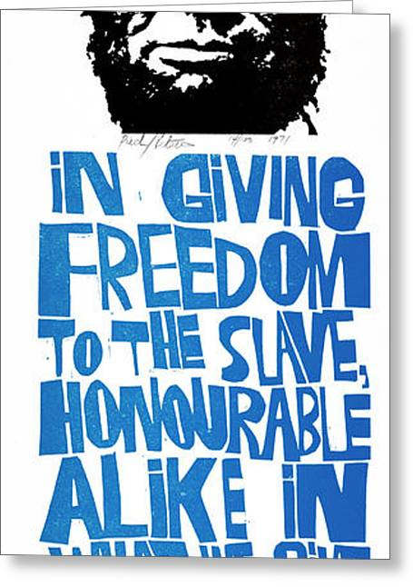 Poster Lincoln, 1971 Greeting Card