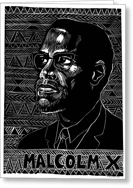 Poster Malcolm X, 1976 Greeting Card