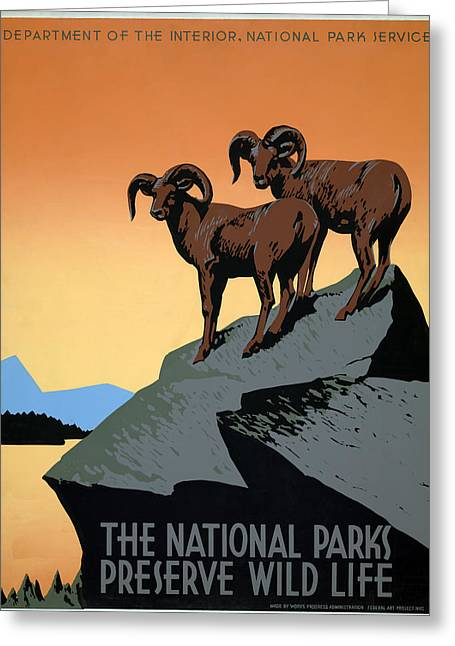Poster National Parks Greeting Card by Granger